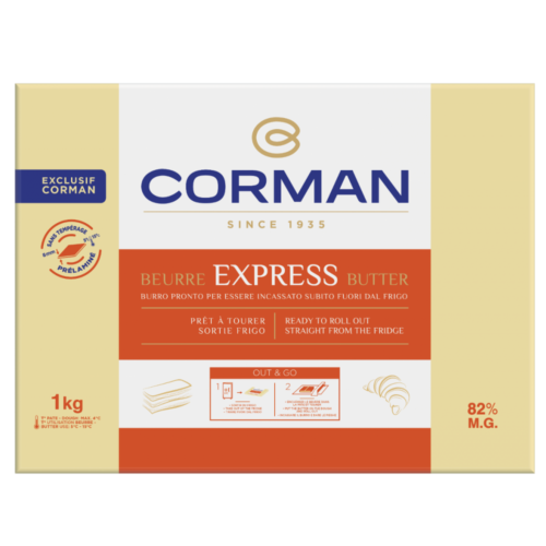 Mantequilla Corman Express 82% MG placa 1 kg