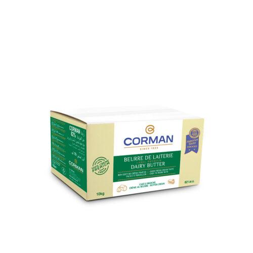 Mantequilla lechería 82% MG Corman bloque 10 kg